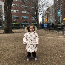 Leyla, Mart 2018'de ameliyattan once Union Sq'de